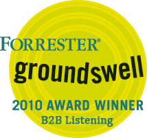 Forrester Groundswell Award announcement - eCairn 2010 Winner in category B2B listening