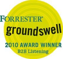 Forrester Groundswell Award announcement - eCairn 2010 Winner in category B2B listening