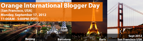 Orange International Blogger Day